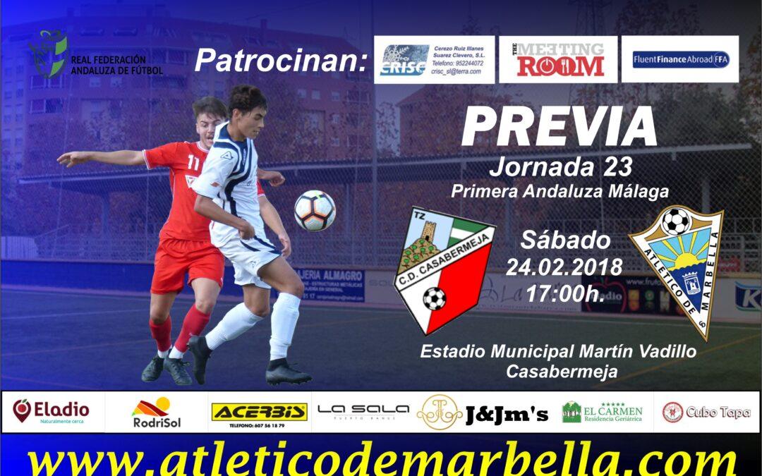 Previa: El Atlético Marbella busca sorprender al Casabermeja en su campo (Sáb.17:00h)