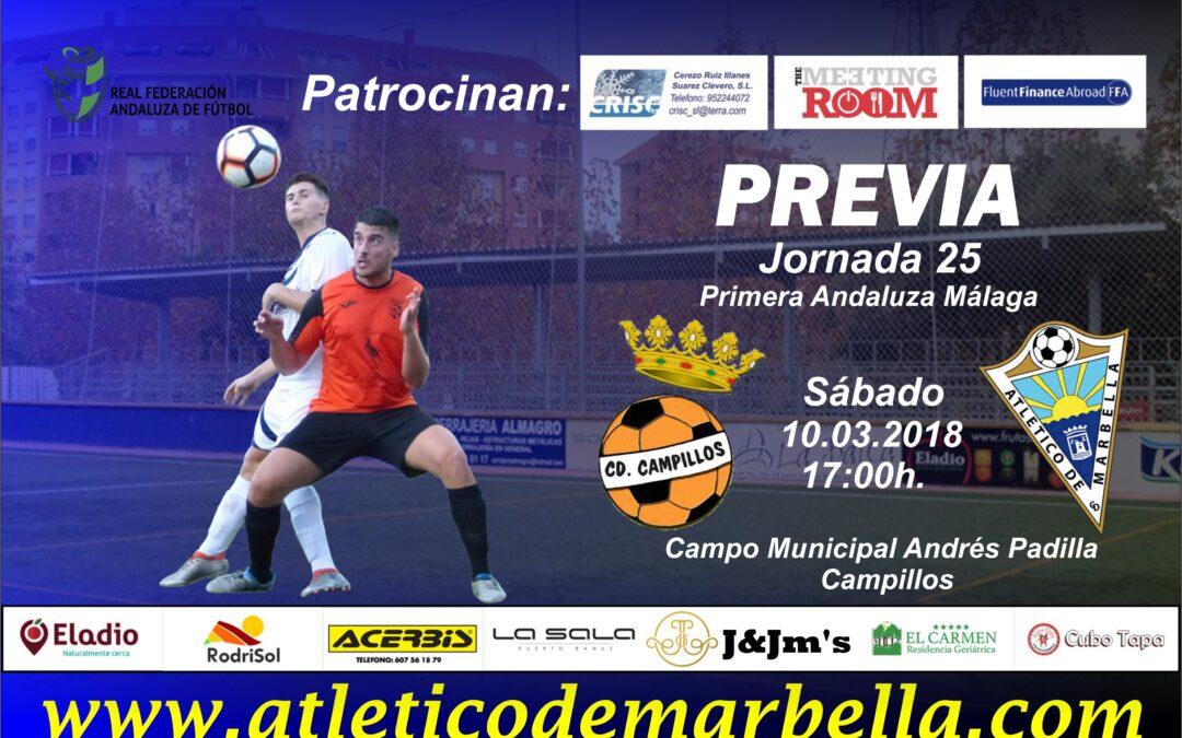 Previa: El Atlético Marbella visita al C.D.Campillos con la obligación de ganar (Sáb.17:00h)