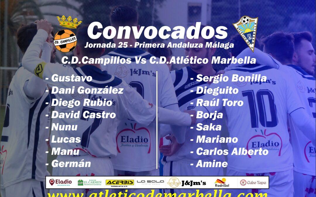 Convocatoria: C.D.Campillos Vs Atl.Marbella (Sáb.17:00h.)