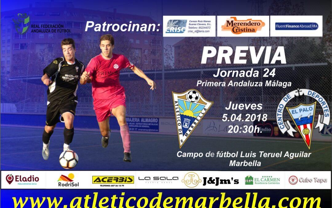 Previa: El Atlético Marbella recibe este jueves a El Palo B en la jornada suspendida (Jue.20:30h.)