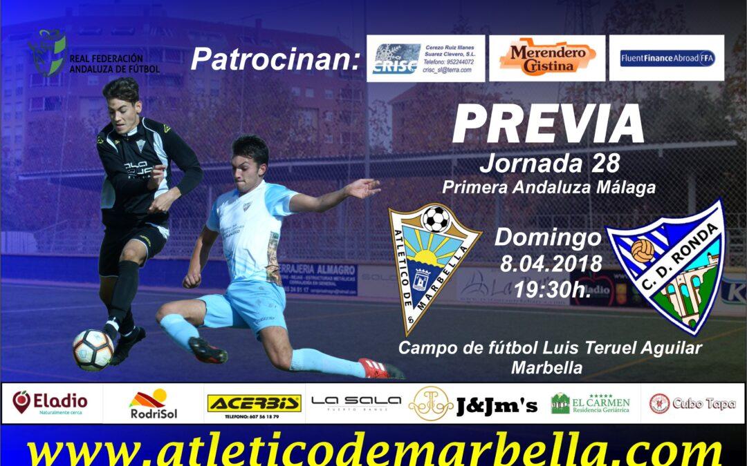 El Atlético Marbella buscará ante el C.D.Ronda una victoria para seguir pensando en la salvación (Dom.19:30h.)