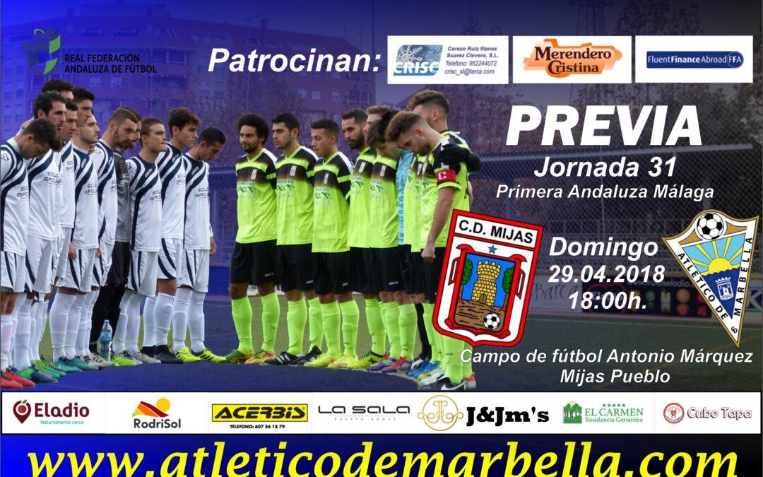 El Atlético Marbella visita al Mijas en una nueva final por la salvación (Dom.18:00h.)