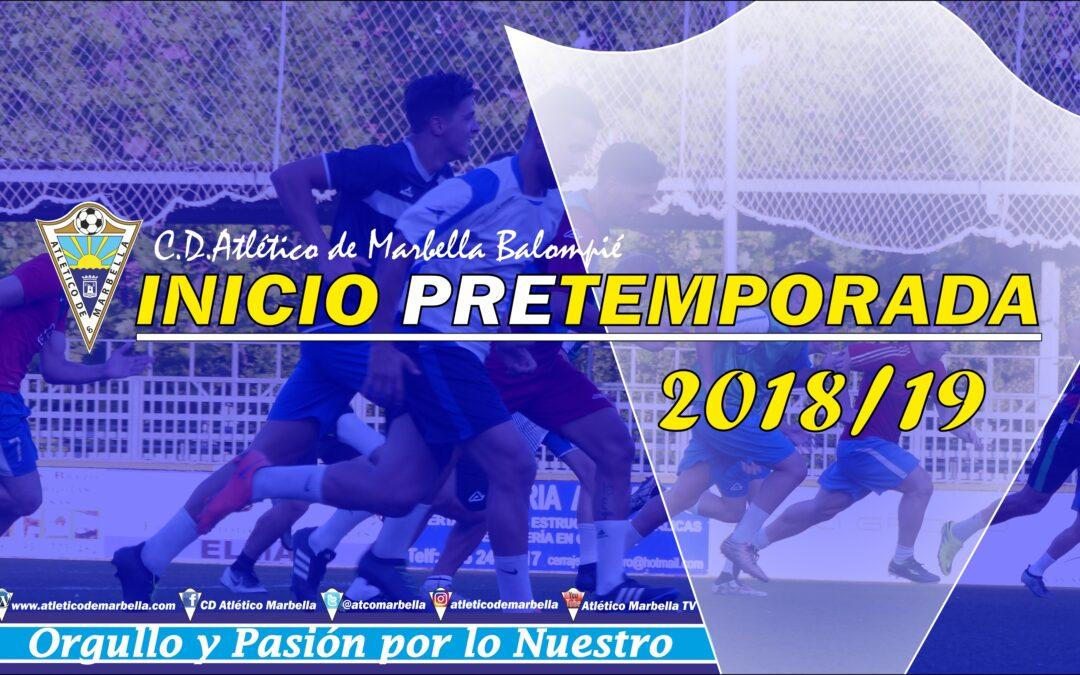 El Atlético Marbella inicia este lunes la pretemporada 2018/19