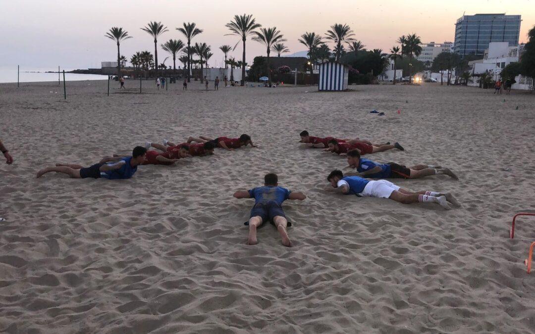 Playa en el segundo día de pretemporada