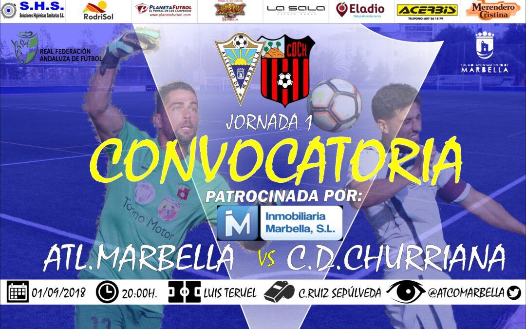 Convocatoria Jornada 1: Atl.Marbella Vs C.D.Fuengirola (Sáb.20:00h)
