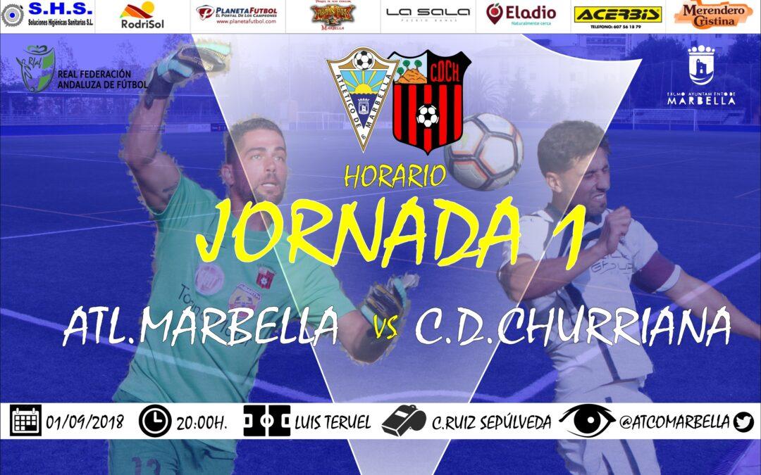 Horario Jornada 1: Atl.Marbella Vs C.D.Churriana
