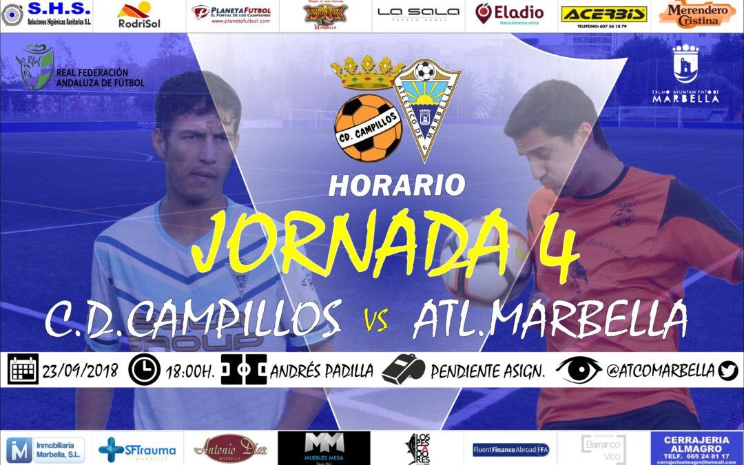 Horario Jornada 4: C.D.Campillos Vs Atl.Marbella