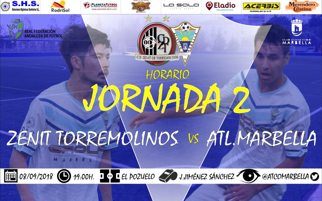 Horario Jornada 2: Zenit Torremolinos Vs Atl.Marbella