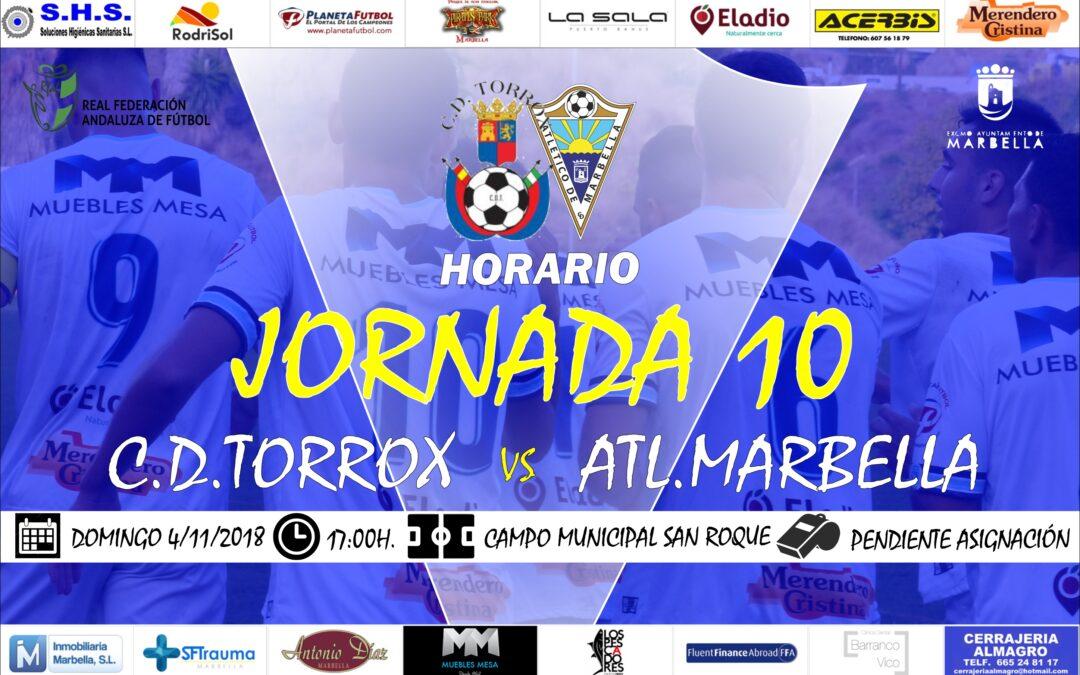 Horario Jornada 10: C.D.Torrox Vs Atl.Marbella