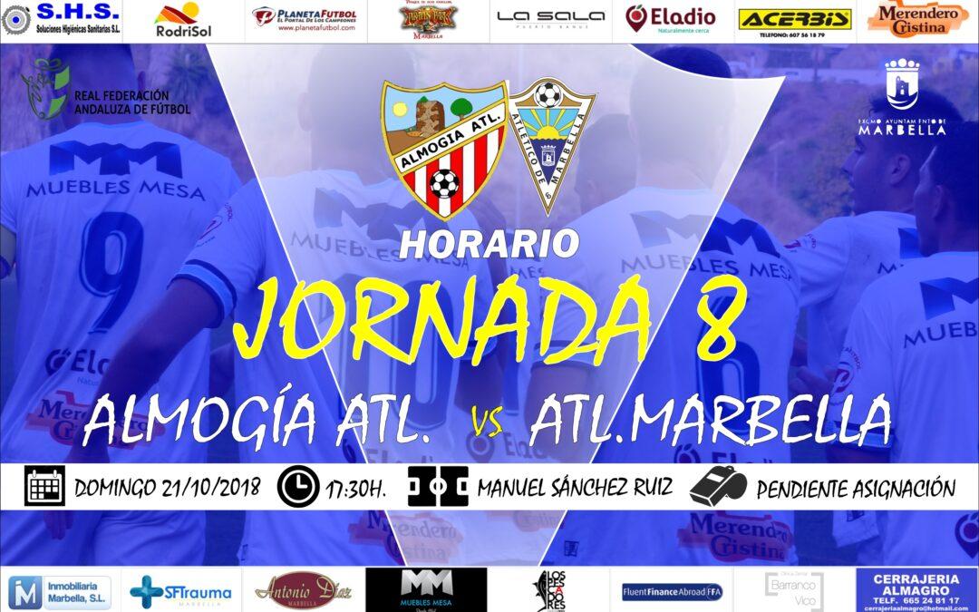 Horario Jornada 8: Almogía Vs Atl.Marbella