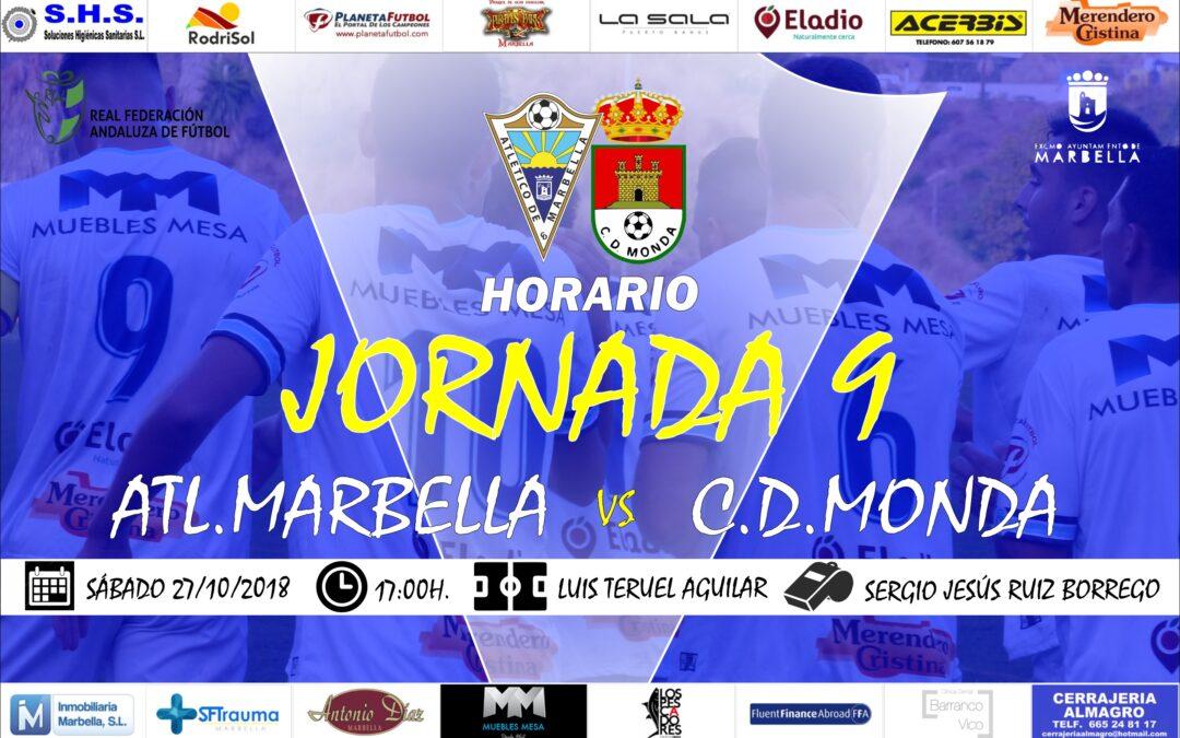 Horario Jornada 9: Atl.Marbella Vs C.D.Monda