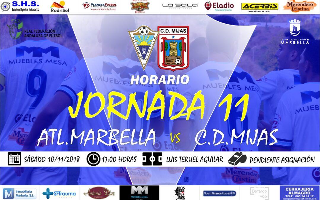 Horario Jornada 11: Atl.Marbella Vs C.D.Mijas