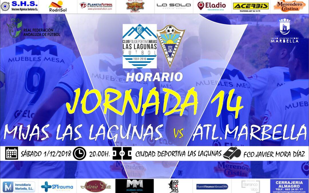 Horario Jornada 14: C.P.Mijas Las Lagunas Vs Atl.Marbella
