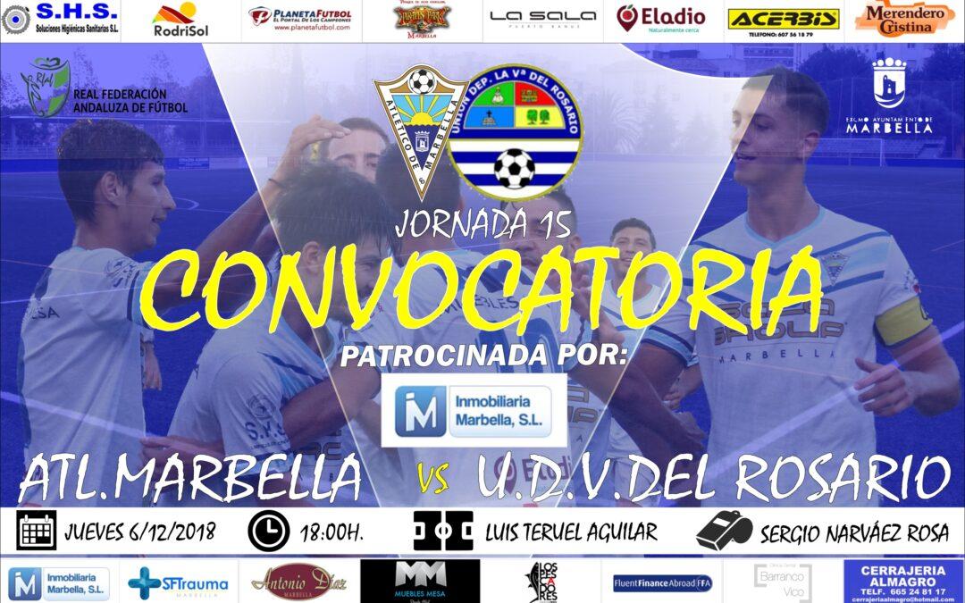 Inmobiliaria Marbella nos trae la convocatoria del Atl.Marbella-U.D.Villanueva del Rosario