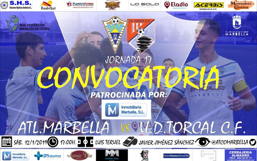 Inmobiliaria Marbella nos trae la convocatoria del Atl.Marbella-U.D.Torcal C.F.