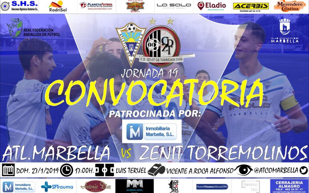 Inmobiliaria Marbella nos trae la convocatoria del Atl.Marbella-Zenit Torremolinos