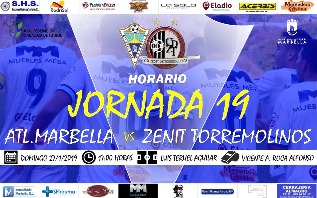 Horario Jornada 19: Atl.Marbella Vs Zenit de Torremolinos