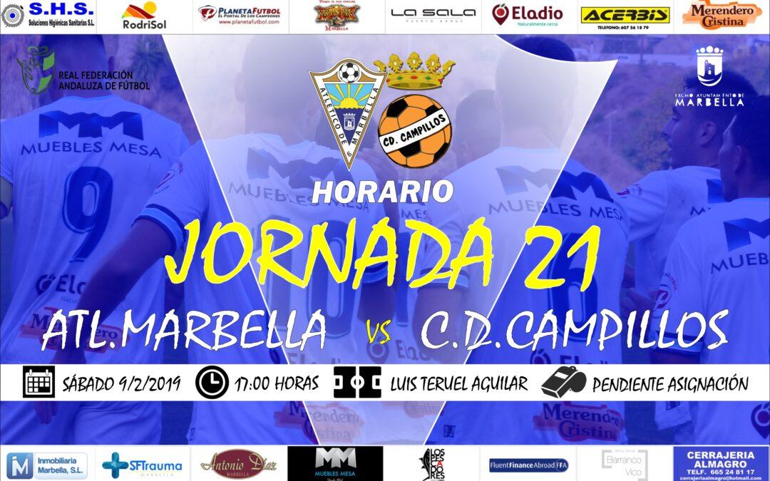 Horario Jornada 21: Atl.Marbella Vs C.D.Campillos
