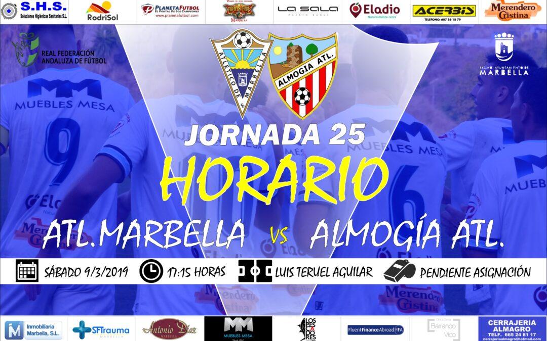 Horario Jornada 25: Atl.Marbella Vs Almogía Atl.
