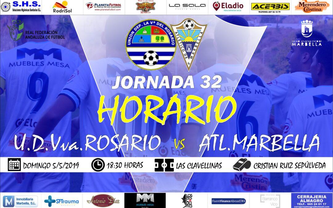 Horario Jornada 32: U.D.Villanueva del Rosario Vs Atl.Marbella