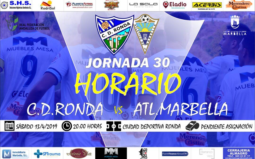Horario Jornada 30: C.D.Ronda Vs Atl.Marbella