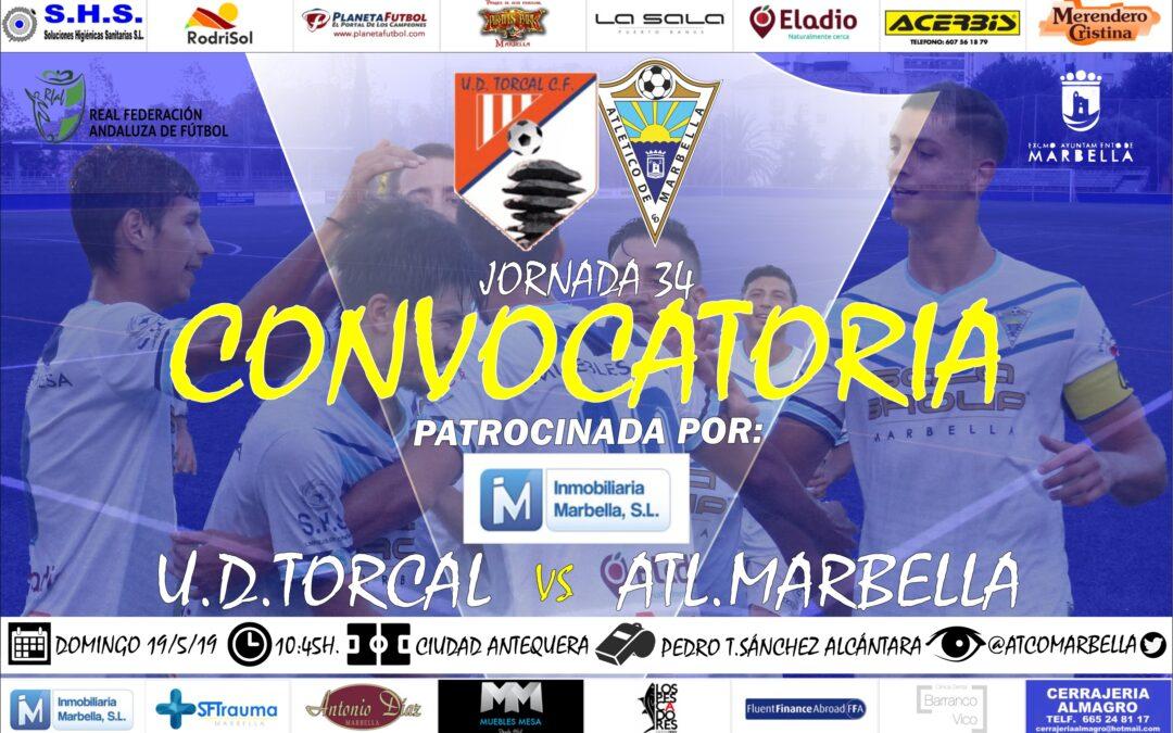 Inmobiliaria Marbella nos trae la convocatoria del U.D.Torcal-Atl.Marbella (Dom.10:45h.)