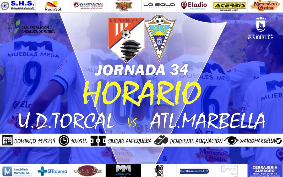 Horario Jornada 34: U.D.Tocal Vs Atl.Marbella
