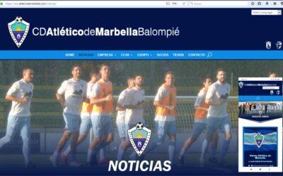 El CD Atlético de Marbella estrena nueva web