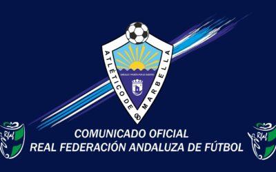 COMUNICADO OFICIAL: INICIO TEMPORADA 2020/2021