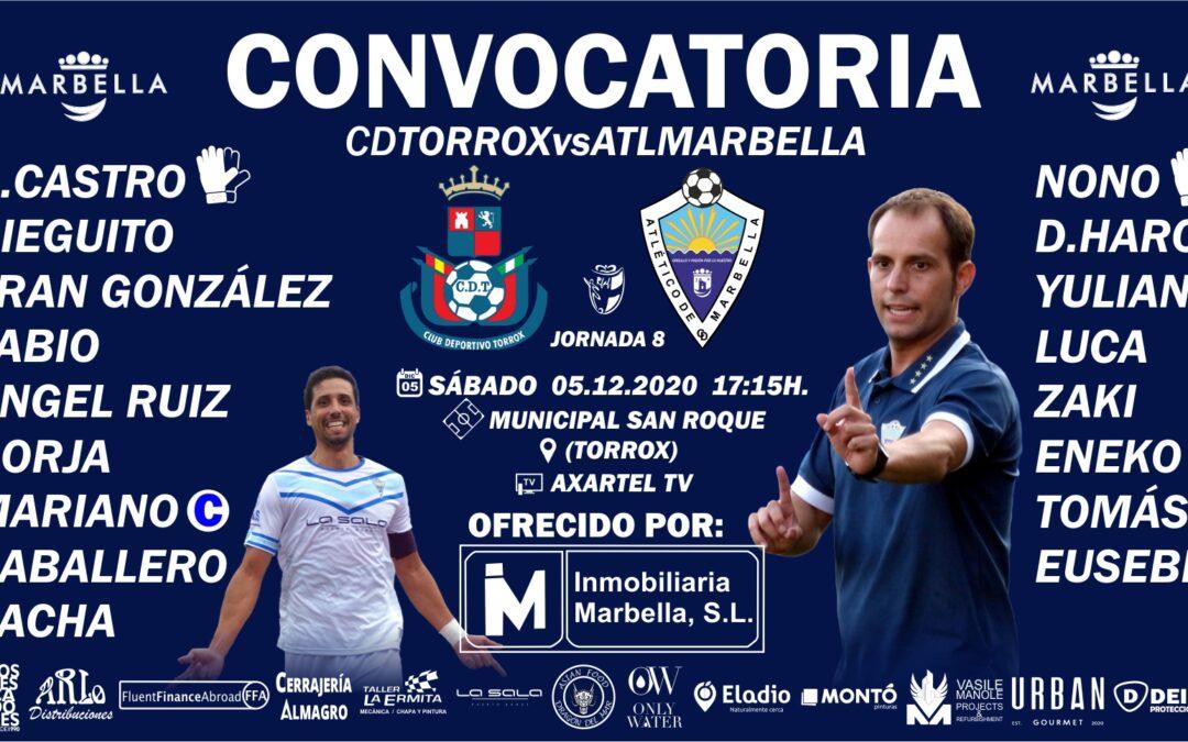 CONVOCATORIA: CD TORROX – ATL.MARBELLA