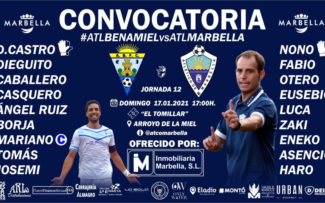 CONVOCATORIA: ATL.BENAMIEL – ATL.MARBELLA