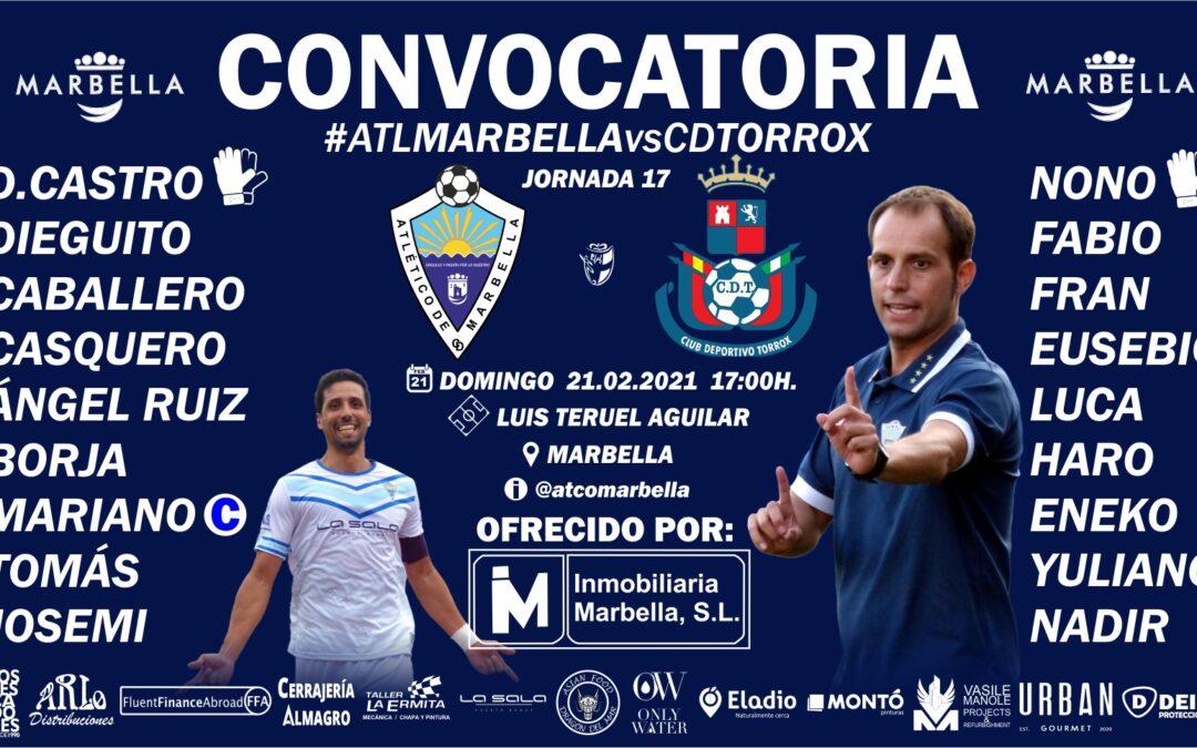 CONVOCATORIA: ATL.MARBELLA – CD.TORROX