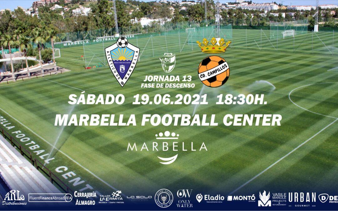 EL ATLÉTICO MARBELLA JUGARÁ ANTE EL CD CAMPILLOS EN MARBELLA FOOTBALL CENTER