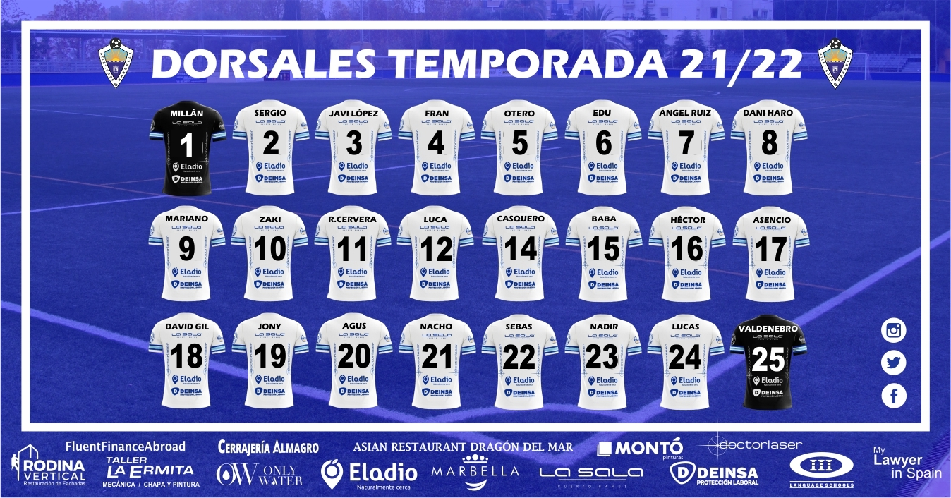 DORSALES TEMPORADA 21/22